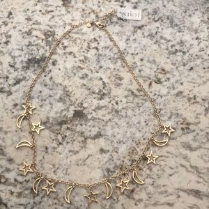 Jcrew moon and stars necklace!